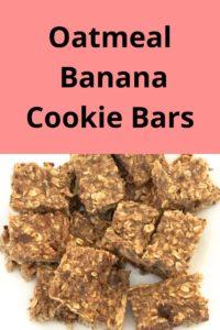 Oatmeal, banana chocolate chip cookie bars